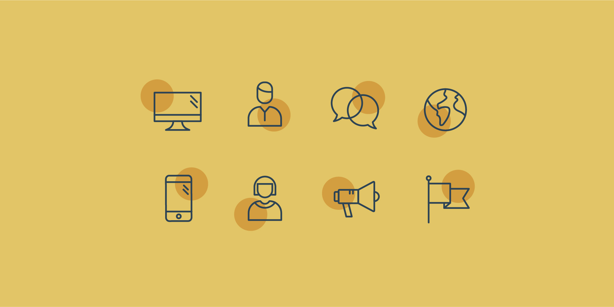 Circle Business Icons